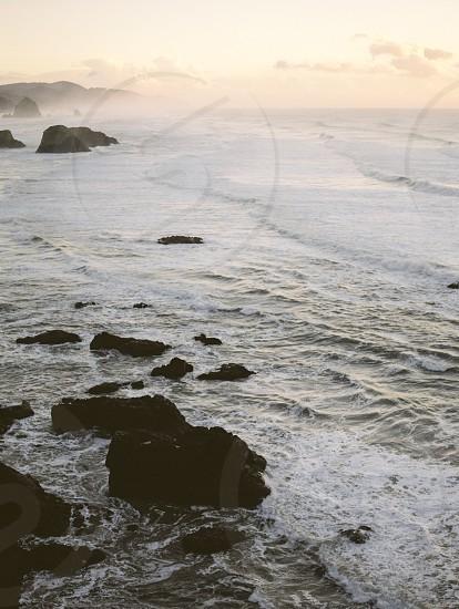 Sunset at Ecole State Park on the Oregon coast. photo