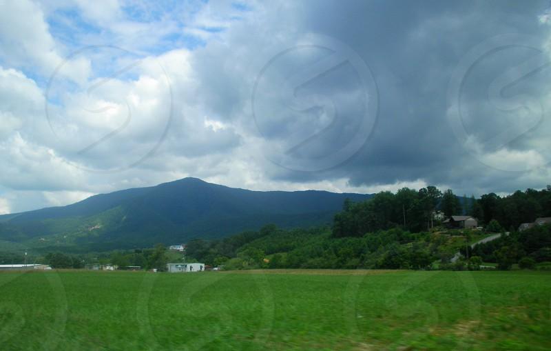 Great Smokey Mountains Valley View Scene photo