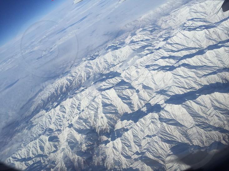Mountains ice topview photo