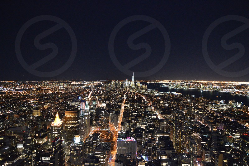 aerial photo of a city full of lights during the night photo