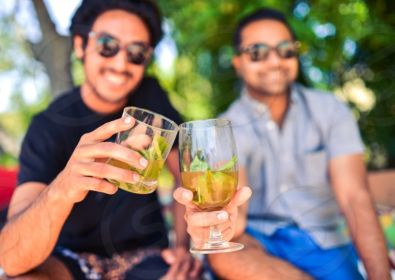 friends cocktails cheers photo