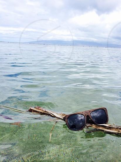brown plastic frame sunglasses photo