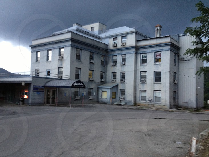 Creepy abandoned hospital photo