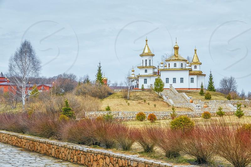 Church of the Icon of Our Lady of Kazan in St. George Monastery of Assumption Holy bushes (Svyatyye Kustiki). Bashkortostan. Russia  photo