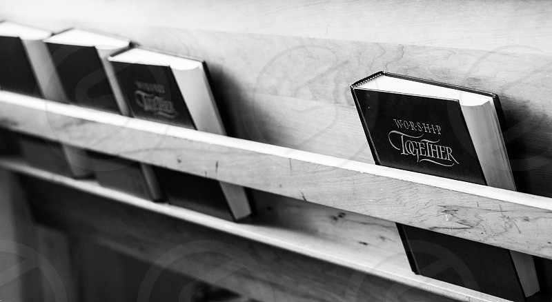 church holy book black and white  photo