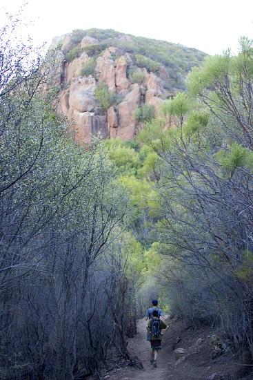 mountain cliff view photo