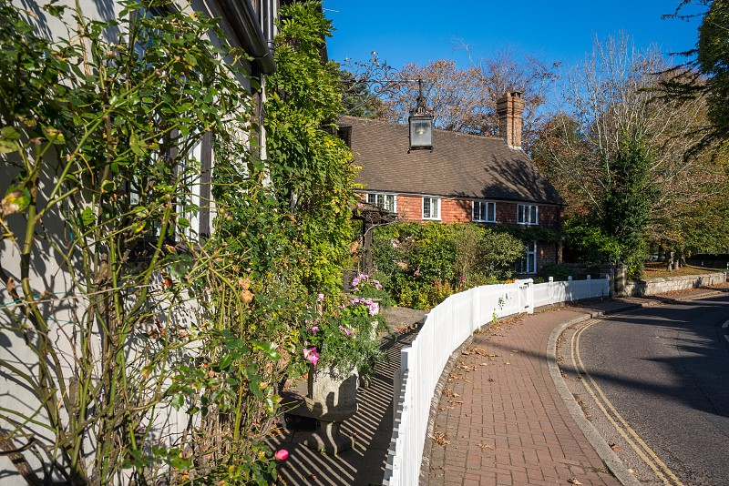 LINDFIELD WEST SUSSEX/UK -OCTOBER 29 : View of buildings in the village of Lindfield West Sussex on October 29 2018 photo