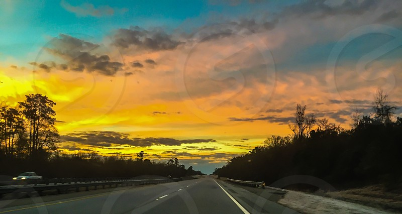 Nature Sunrise Sunsets Sunset Sky Open Road Travel photo