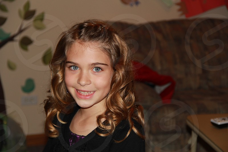 Hair eyes girl curls highlights photo
