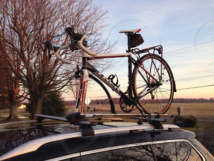 Sunrise with the bike photo