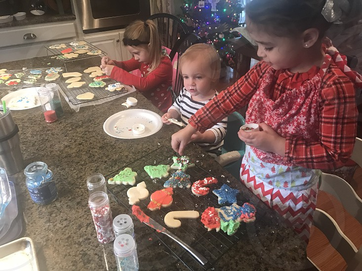 Girls not a boy not a girls toddlers Christmas cookies decorations snacks photo
