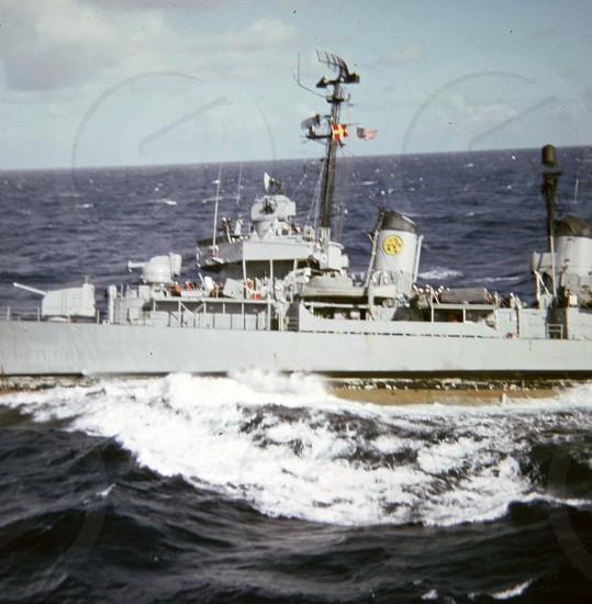 military boat at sea photo
