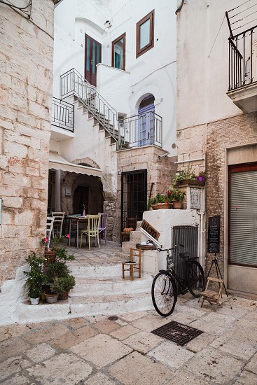 Cisternino Italy - August 2019: Historic center of the village of Cisternino in Puglia in August photo