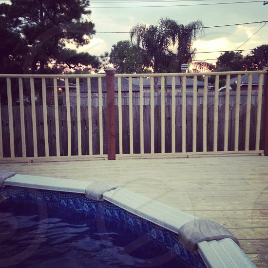 Above ground pool view photo