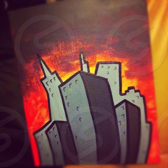 Epic city. Epic Painting.  photo