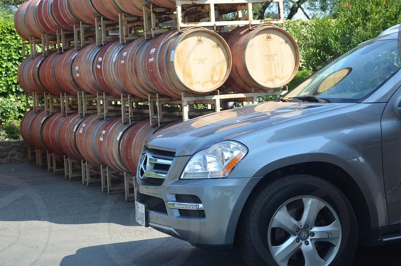 Benz and barrels  photo