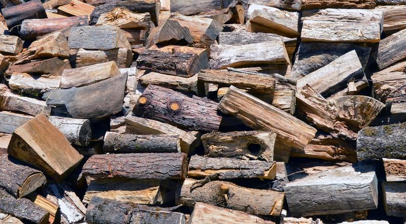 wood chunks and firewood photo