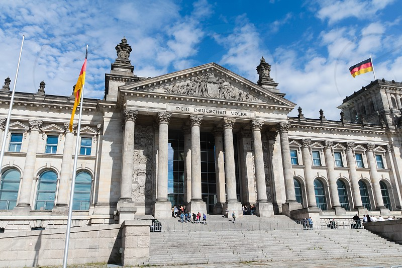 The Reichstag building in Berlin Germany. photo