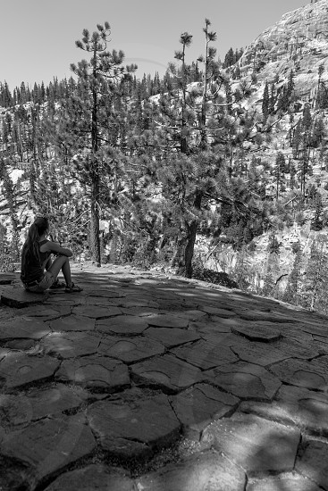 Devil's Floor Tiles - we paused for a break while on a hike at the Devil's Postpile near Mammoth California. photo