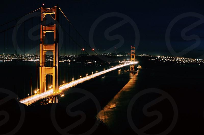 golden gate bridge night view photo