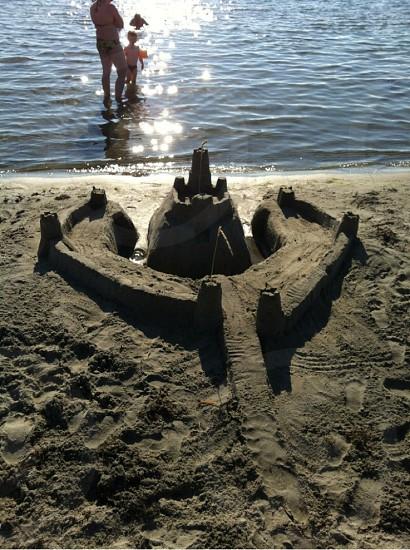 castle sand formation photo