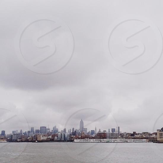 Overcast city photo photo