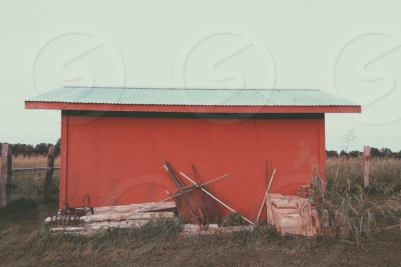 Red barn in Haskell Oklahoma  photo