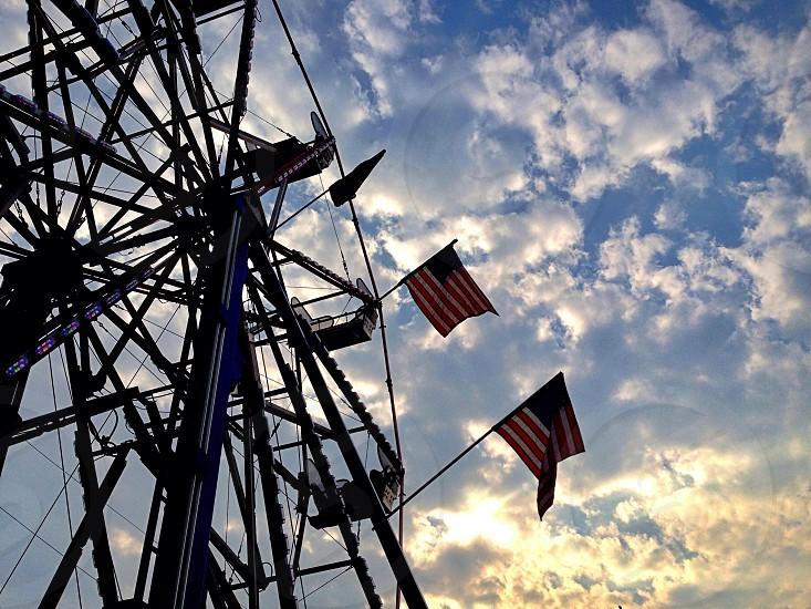 Ferris wheel fair county summer country festival amusement park photo