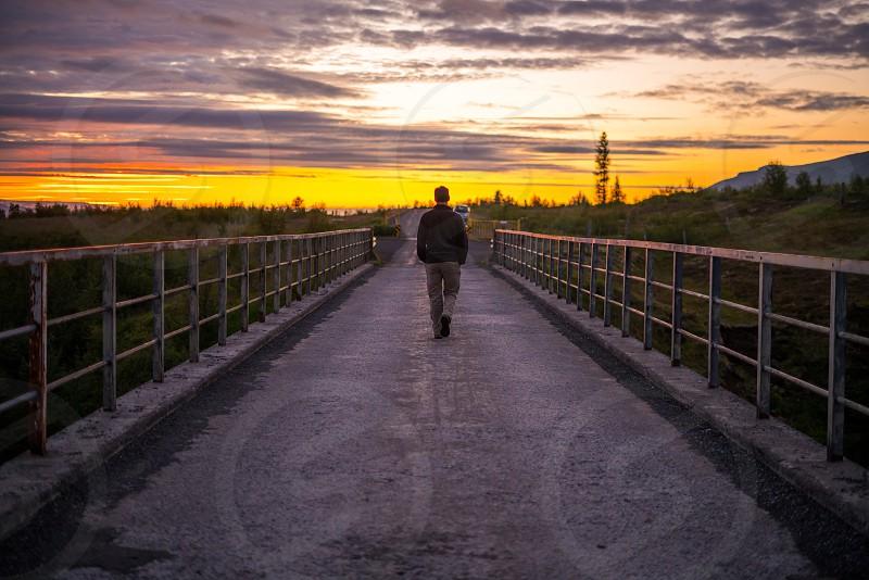 Iceland bridge inspirational  photo