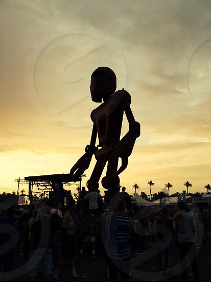 Robot at coachella 2014 photo