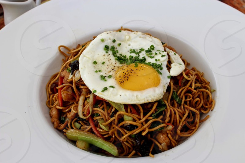 asian noodles in Mauritius photo