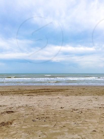 Sky sea and sand Italy Riccione photo