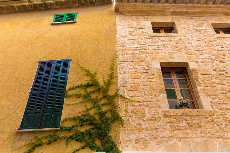 Alcudia Old Town in Majorca Mallorca Balearic island of Spain photo