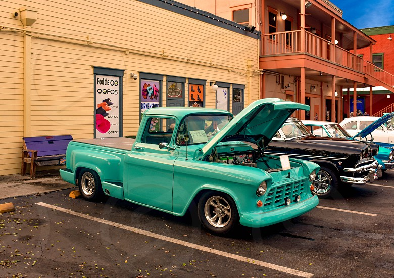 Orlando Florida. December 28 2018. Saturday Nite Classic Car Show and Cruise is a weekend tradition in Old Town Kissimmee. at  Kissimmee Old Town in 192 Highway area (1) photo