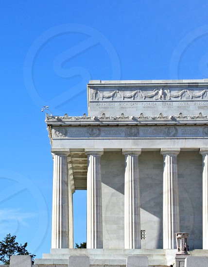 Left side of the Lincoln Memorial. photo