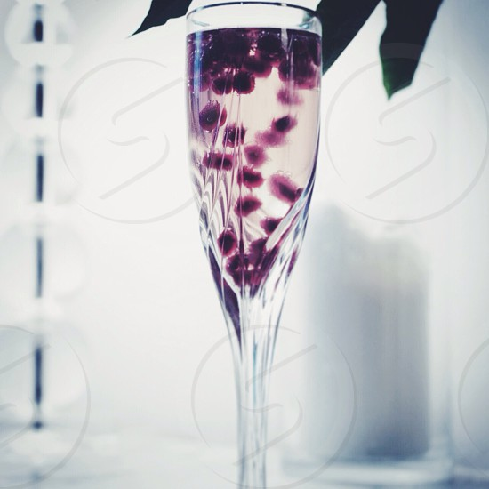 Bubbles with pomegranate seeds.  photo