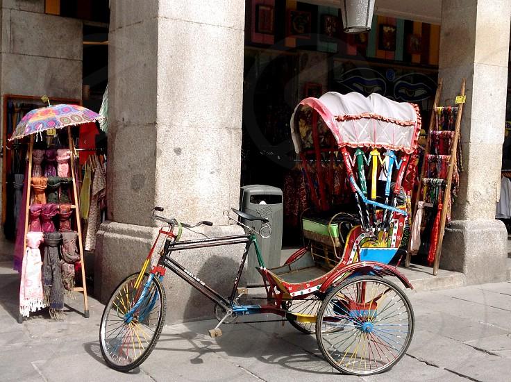 Street shop Madrid photo