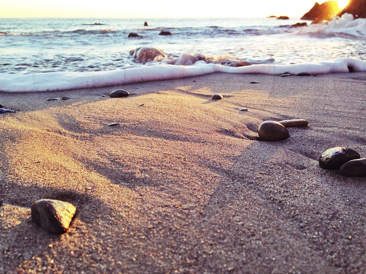 beach stones and sands photo photo