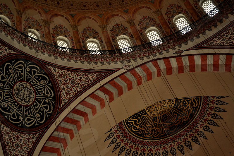 Ceiling Mosque Istanbul photo