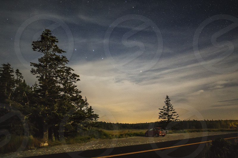 camping night stars road national park car parked at night by jorge bache photo stock snapwire snapwire