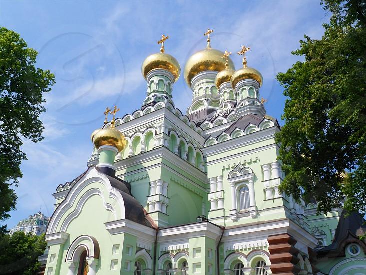 The Holy Virgin Convent in Kiev Ukrainesummer 2016 photo