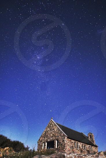 Stargazing at Church of the Good Shepherd in NZ 善き羊飼いの教会 星の軌跡、ニュージーランド photo