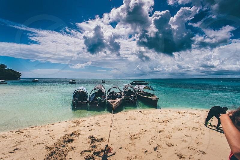 Boat docking in Zanzibar  photo