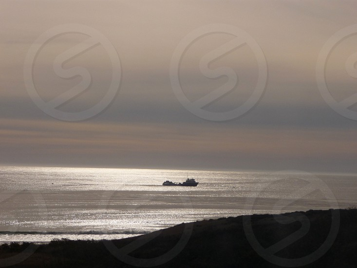 View from Amtrak's Coast Starlight near Santa Barbara ca photo