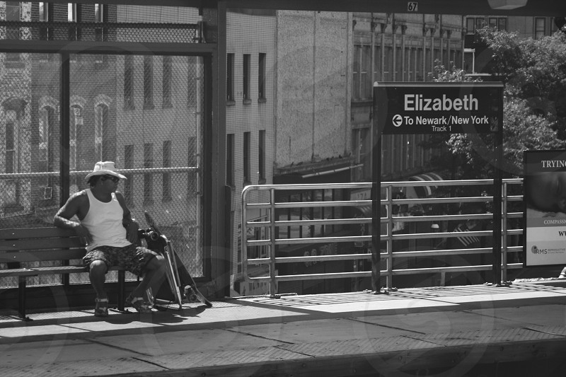 Mariachi waiting for train to New York photo