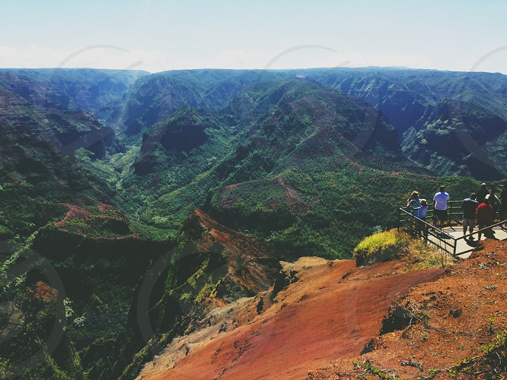 Waimea Canyon Lookout Kauai Hawaii Hike Canyon Landscape Travel photo