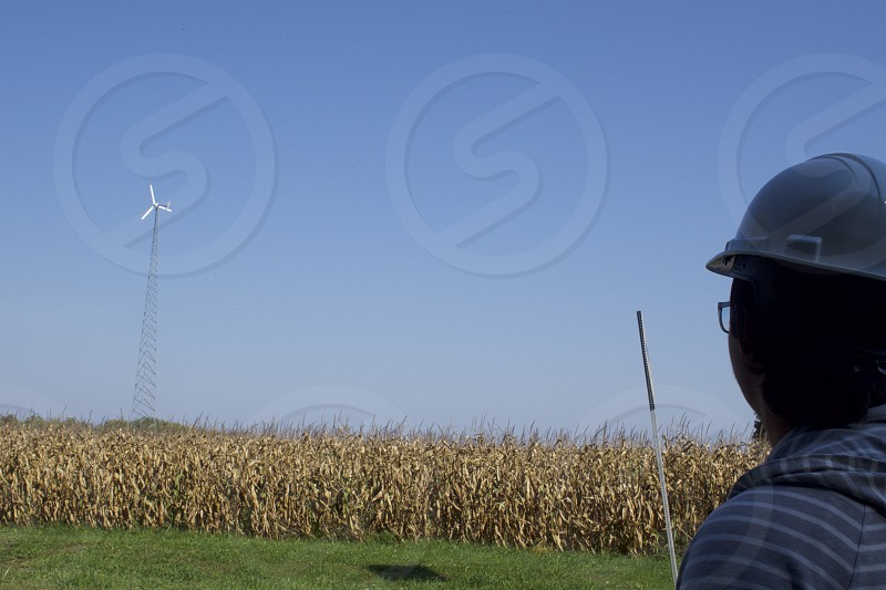 Green Energy Wind Farm Turbine Engineer Technician      photo