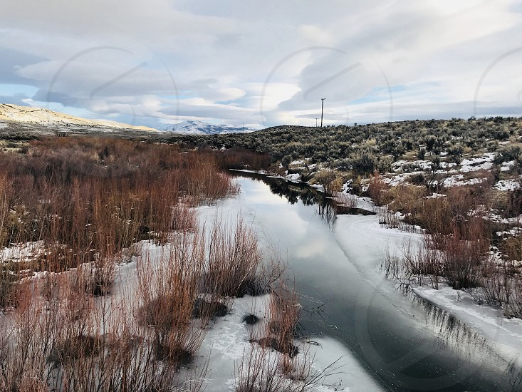 Carson City Nevada Nature Winter Ice Snow Season Cold