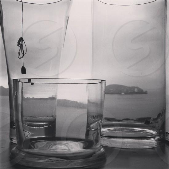 Glassware in kitchen photo