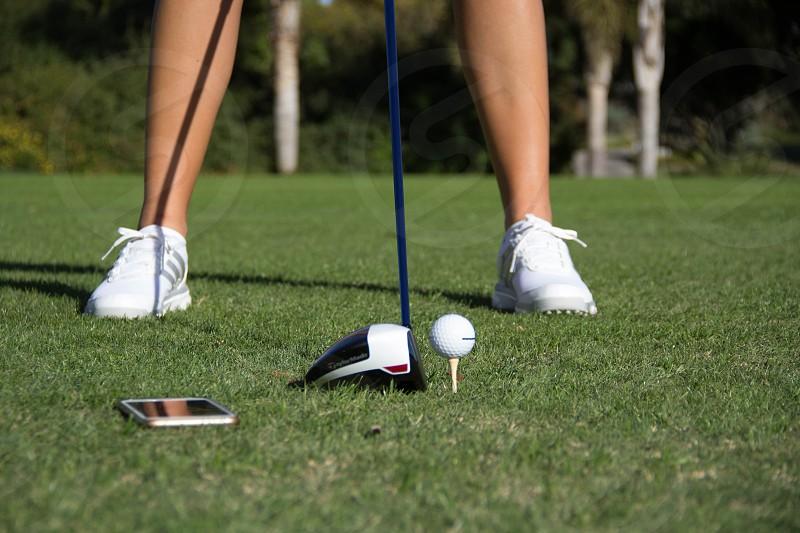 Tee golf golfer adidas golfball ball  photo